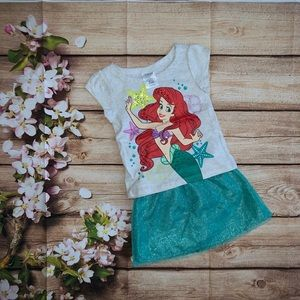 Little Mermaid Shirt and Skort set.